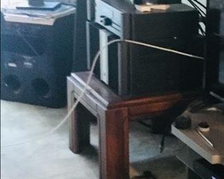 stereo equip, vintage italian speakers
