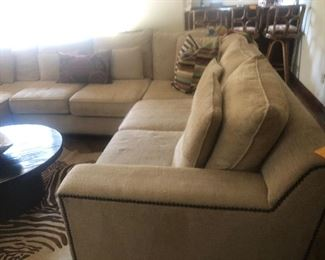 Nice sectional with minor cat scratches on corners, priced to move!