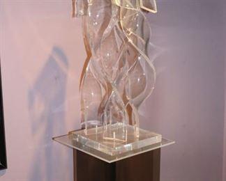 Modern Sculptural Piece and Pedestal