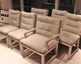 Set of 6 Chairs - 2 with Arms