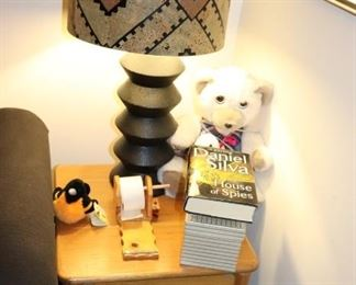 Side Table, Lamp and Books