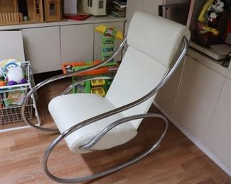 Contemporary Rocking Chair and Toys