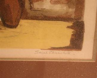 Signed Art by Sarah Churchill