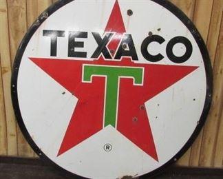 1964 - 6' Porcelain Double Sided Texaco Sign