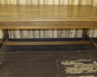 6' Oak Mission Style Table