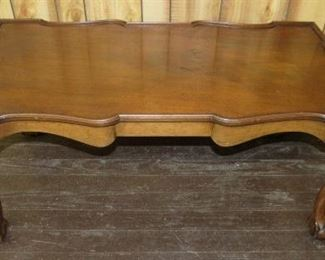 Mahogany Coffee Table w/Chippendale Claw & Ball Feet