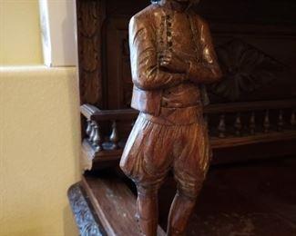 German Bar-hand carved figurine