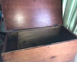 Antique 1800s cherry chest, believed to be made in Tennessee.