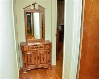 4. Young Republic Solid Maple Cabinet with Mirror