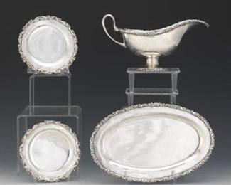 Four Juvento Lopez Reyes and CLS Mexican Sterling Silver Table Articles
