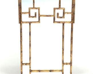 Gilt Metal Faux Bamboo Mirror
