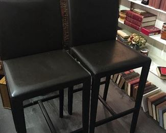 Bar Stools Brown Leather