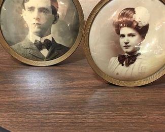 Antique Convex Photograph Frames