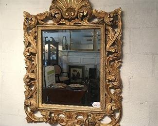 Beautifully Ornate Gold Mirror