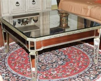 5. Mirrored Glass Coffee Table