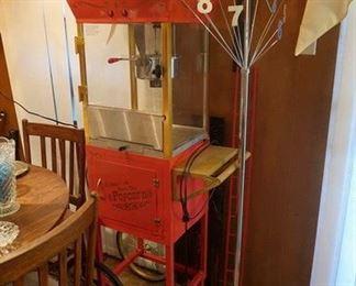 Popcorn popper. Mid century floor clock