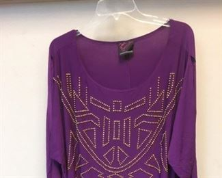 Purple and gold statement top.