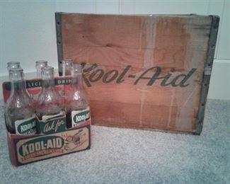 KoolAid Wooden Box and Six Pack