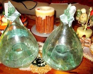 Italian fly trap bottles. Rare. 2 of them