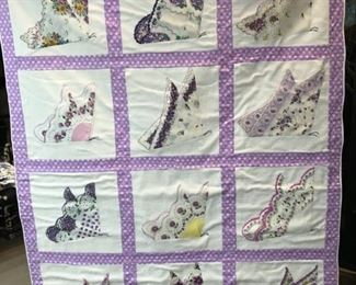 Quilt Auction for Blue Ribbon Hays County Youth Show Winner.  Silent bidding through Saturday.