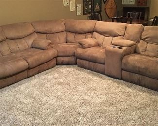 FABULOUS SOFA SLEEPER SECTIONAL WITH RECLINERS