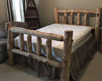 FULL SIZE LOG BED AND DRESSER
