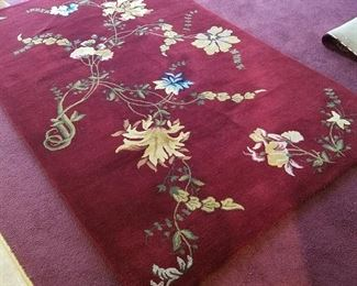 Very thick pile on this hand made rug.