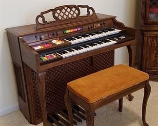 Kimball organ is in good condition and still plays