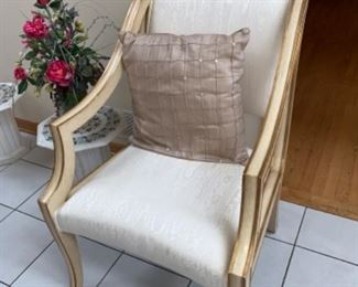 Upholstered Vintage Arm Chair $50 If you are interested please text 312-933-5369 or 312-203-0342. We will text you PayPal and pick up instructions.