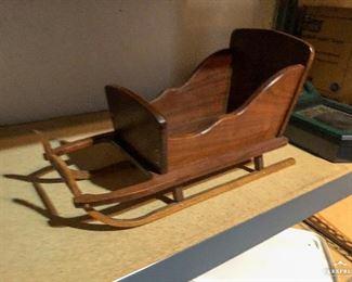 Decorative Wooden Sleigh