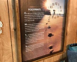 Footprints Poem Clock