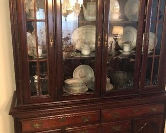 Queen Ann collection China cabinet.