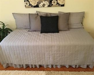 Twin Bed and Mattress Set w/ Daybed Cover Set