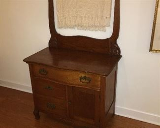 1800's Oak Washstand