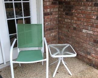 Patio Chair and Patio Table