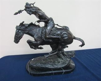 """Bronze after Remington Cheyenne 18.50"""""""