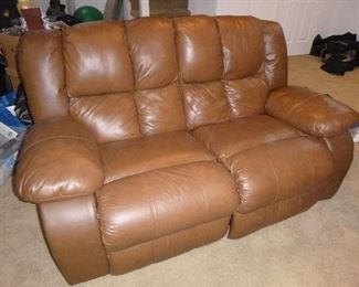 Leather Love seat reclyner