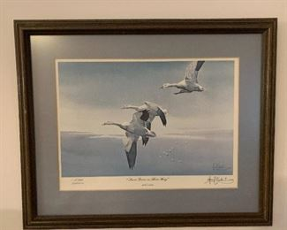 """""""Snow Geese on Their Way"""" Les C. Kouba - signed and numbered"""