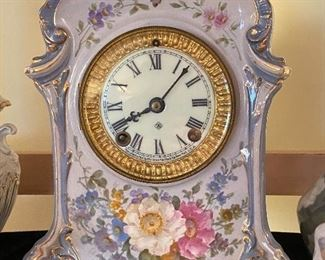 ANSONIA CHINA CASED CLOCK