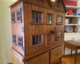 OAK DOLL HOUSE FROM BATH ENGLAND WITH INCREDIBLE DETAIL INSIDE AND OUT