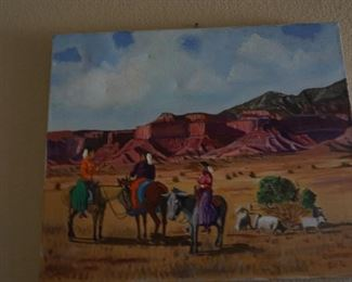 Signed and dated New Mexico Oil Painting, 1980.
