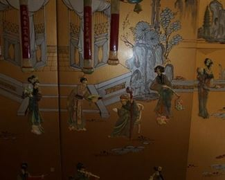 Vintage Chinese Room Divider Screen