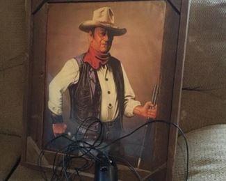 John Wayne framed picture