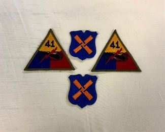 WWII U.S. Army 41st Armored Infantry Regiment Patches and XII Corp Northern France to Austria Patches