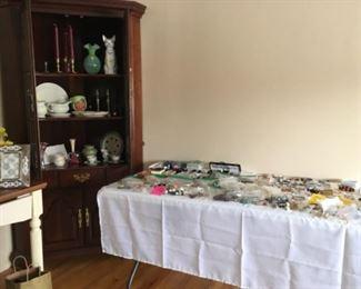Jewelry, home decor,  corner cabinet