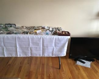 Jewelry, flat screen television
