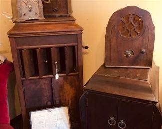 Vintage radios and victrola