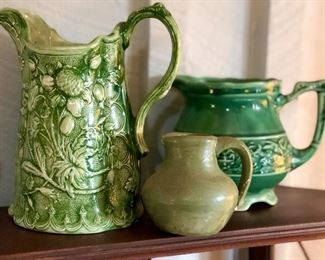 Collection of vintage and interesting pottery