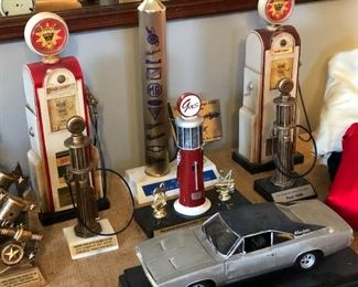 Collection of car trophies