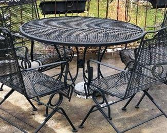 Wrought iron outdoor set